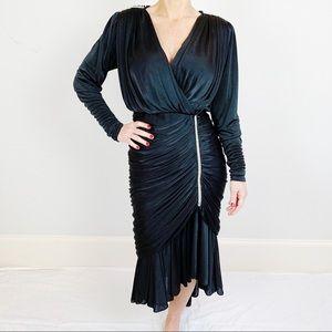 Vintage Black Formal Rhinestone Crystal Dress A25